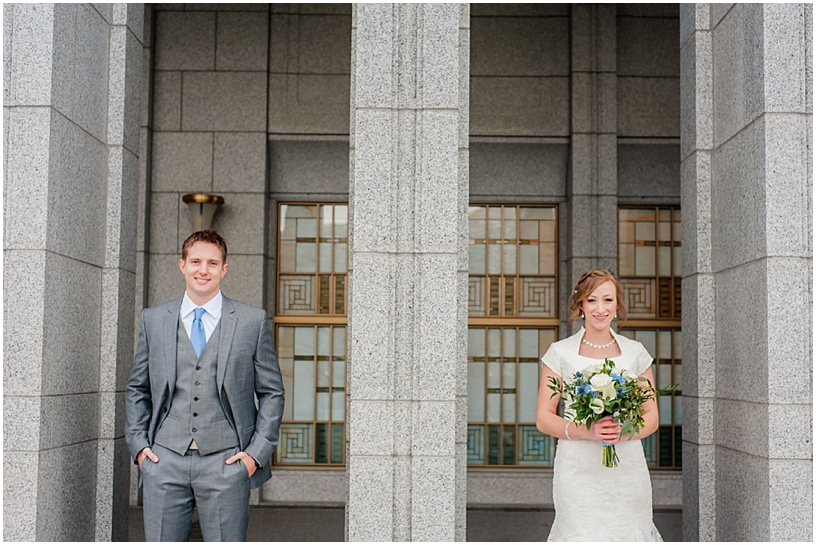 Brittany + Matt // Draper Temple Wedding