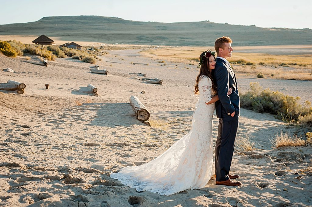 Lindy + Sean || Antelope Island Formals || Logan, Utah Weddin photographer
