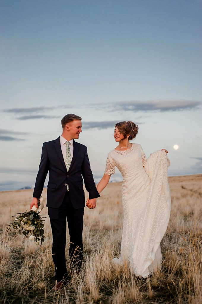 Rachel + Nathan || Antelope Island Wedding Formal Portraits