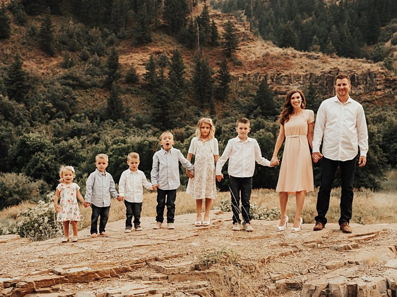 Doty Familly || Cache Valley Photographer || Tips for Photographing Families with Lots of Small Kids