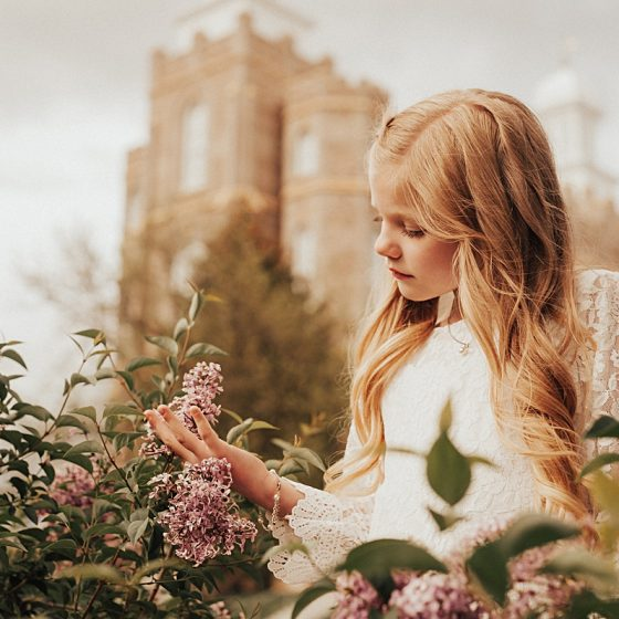 Ella || Centerville, Utah Baptism and Child Photographer
